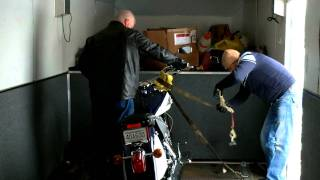 6. Loading 2009 Indian Chief Deluxe Motorcycle for Transport to Customer Dec 16 2010