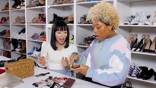 Marie Kondo Cleans Out Beauty Editors' Makeup Bags! | Cosmopolitan by Cosmopolitan