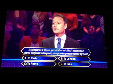 The ultimate trick question on Who Wants to be a Millionaire.