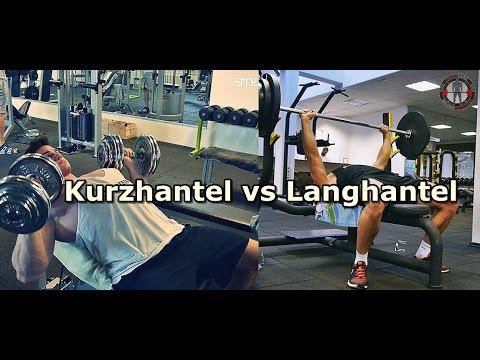 Langhantel vs Kurzhantel - Was ist besser? Vorteile / Nachteile!