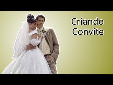 Elaborando Convite de Casamento Moderno