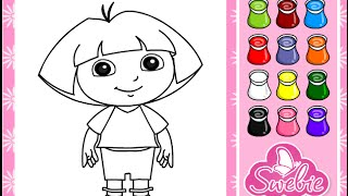 Dora The Explorer Coloring Game Play