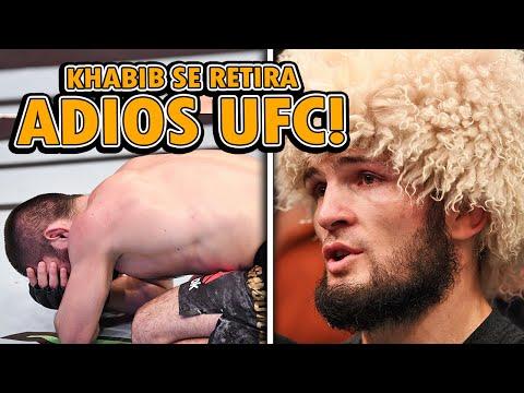 Khabib Nurmagomedov ANUNCIA SU RETIRO de las MMA tras su VICTORIA en UFC 254, Khabib vs Gaethje