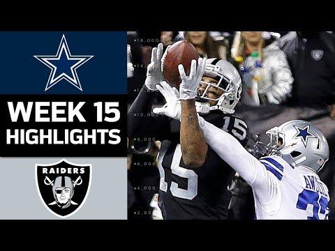 Cowboys vs. Raiders | NFL Week 15 Game Highlights