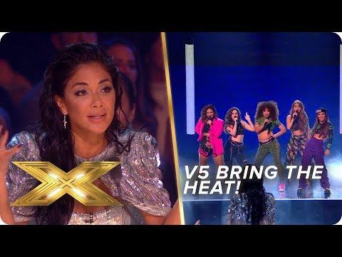 V5 bring the HEAT with this Billie Eilish & DJ Snake mash-up | Live Week 1 | X Factor: Celebrity
