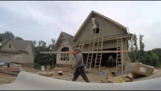 North Knox Siding Windows Exteria Shake Installation- Time Lapse