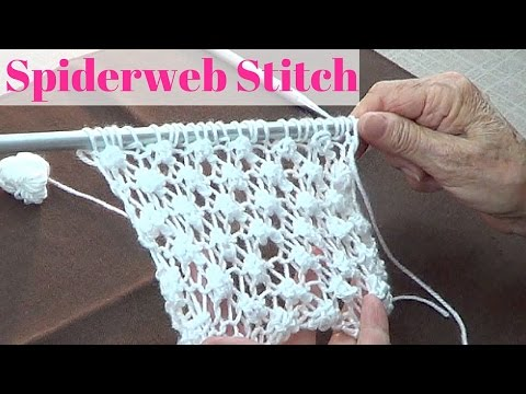 maglia - lavorazione del punto spider o ragnatela