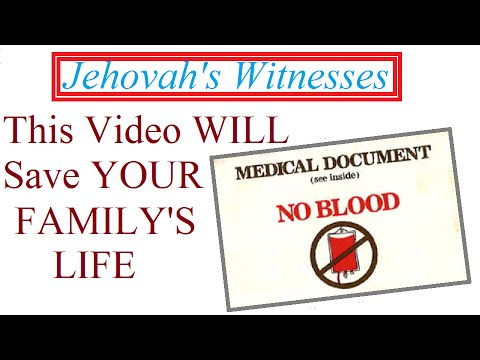 Jehovah's Witnesses and Blood Transfusions, DEBUNKED by the Bible