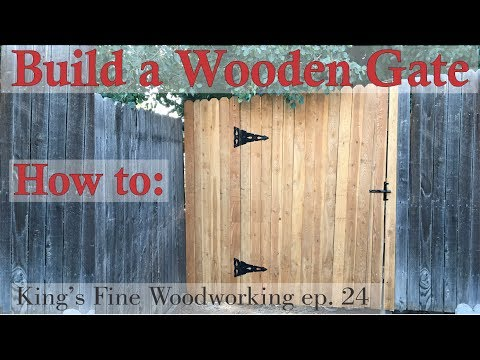 24 - How to Build a Wooden Gate in a 6 Foot Cedar Fence