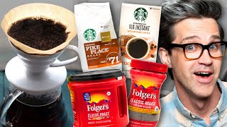 Video Instant Coffee vs. Pour Over Coffee Taste Test download in MP3, 3GP, MP4, WEBM, AVI, FLV January 2017