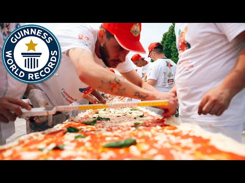 Italy Cooks The World s Longest Pizza