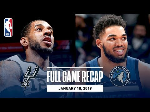 Video: Full Game Recap: Spurs vs Timberwolves | LaMarcus Aldridge Leads All Scorers