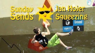 Jan Hojer Squeezing | Sunday Sends by OnBouldering
