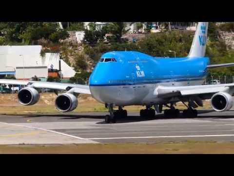 Last ever 747 takeoff from St Maarten