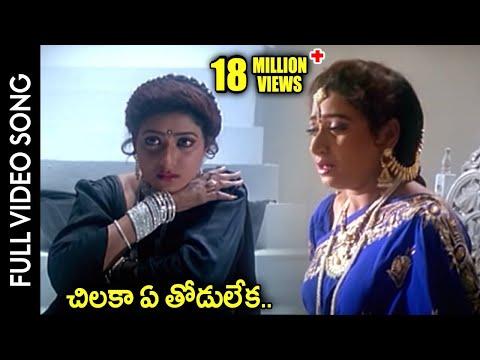Subhalagnam Movie    Chilaka Ye Thodu Leka Video Song    Jagapathi Babu, Aamani, Roja