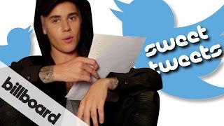 Justin Bieber reads fan Sweet Tweets   #BieberOnBillboard