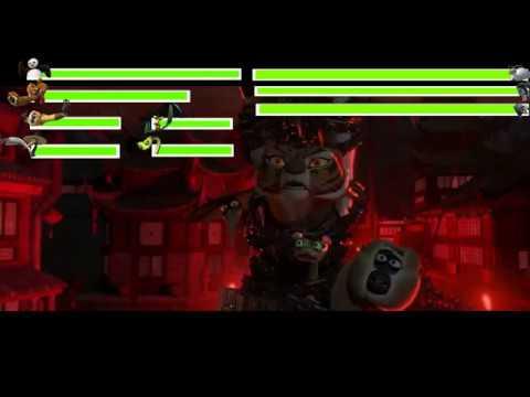Kung Fu Panda 2 Final Battle with healthbars Part 1