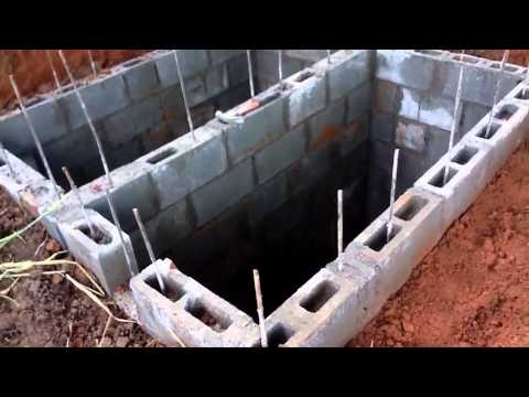 Handmade DIY low cost septic system