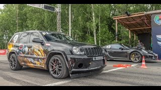 Jeep SRT8 Turbo (1200 KM) vs Porsche 911 Turbo S (650 KM)