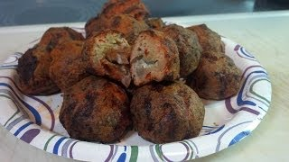Buffalo Meatballs Stuffed with Blue Cheese - YouTube