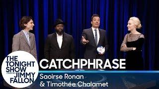 Video Catchphrase with Saoirse Ronan and Timothée Chalamet MP3, 3GP, MP4, WEBM, AVI, FLV Maret 2018