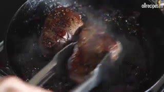 Biefstuk met sjalot en rode wijnsaus