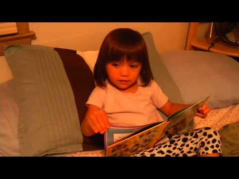 "Erin ""reading"" Jungle Book"