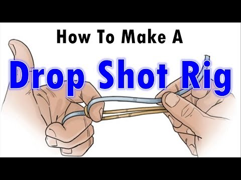How To Make A Fishing Rig/ How to Make a Drop Shot Rig