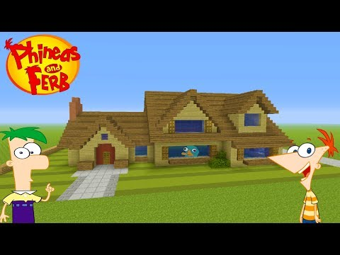 """Minecraft Tutorial: How To Make Phineas And Ferbs House """"Phineas And Ferb"""""""
