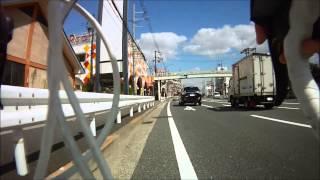 Moriguchi Japan  City pictures : [bicycle onboard camera] cycling from Moriguchi to Hirakata, Osaka, Japan
