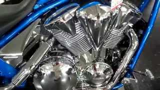 7. Custom Honda Fury 1300 Chrome Wheels & Engine Accessories - Cruiser / Chopper | VT1300 Motorcycle