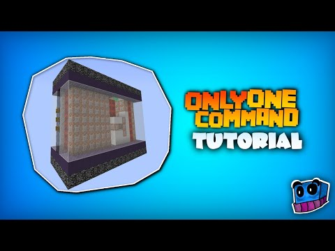 Minecraft – One Command Block Tutorial | How to create machines with only one command?