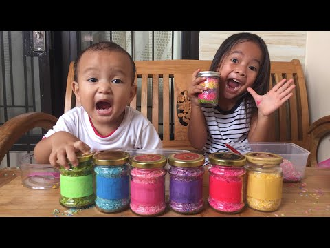 Home Schooling #1 | Zara Membuat Rainbow Rice untuk Belajar Warna | How to Colour Rice for Play