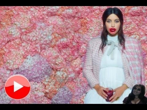 Kim Kardashian Shows Off Baby Bump In Karl Lagerfeld PhotoShoot - video review