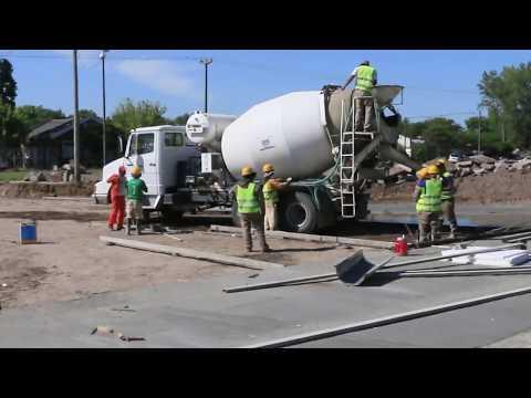 Petrecca recorrió las obras en la avenida de Circunvalación
