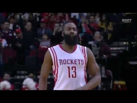 James Harden hits stepback and the foul,