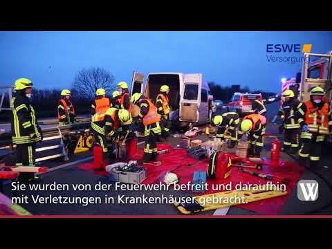 Idstein: Drei Verletzte bei Unfall auf A3