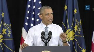Elkhart (IN) United States  City pictures : President Obama Delivers Remarks on the Economy