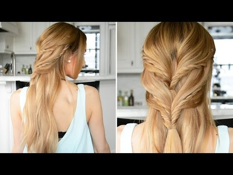 Rope Braided Half-Up Half-Down Hairstyle | Fancy Hair Tutorial