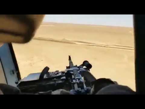Расстрел машины «Исламского государства» с Ми-171