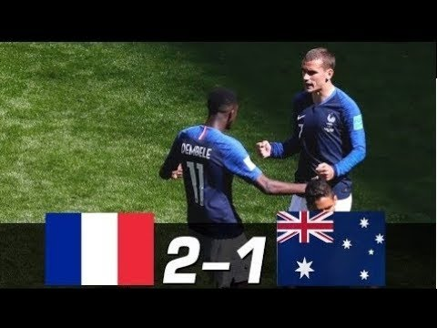 France vs Australia  2 - 1    World Cup 16/06/2018 HD