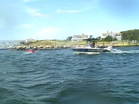jet ski getting pulled over by the coastguard