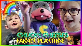 CHUCKY CHEESE'S FAMILY PLAYTIME FUN, KIDS VLOG, TOY REVIEW