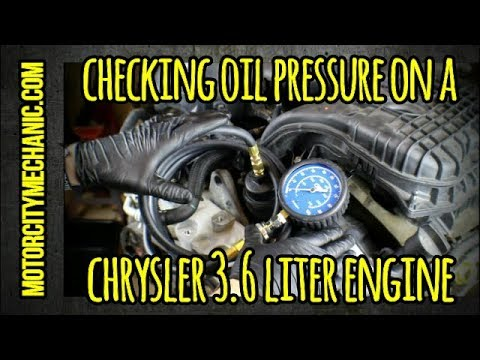 Checking Oil Pressure On A Chrysler 3.2 And 3.6 Liter Pentastar Engine