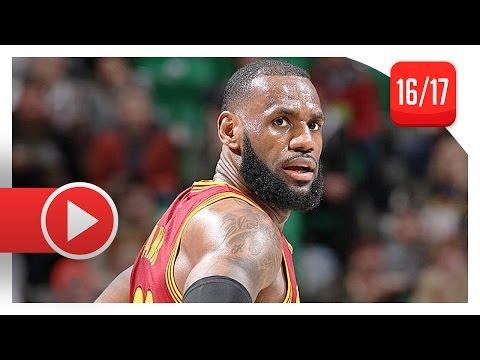 LeBron James Full Highlights vs Jazz (2017.01.10) - 29 Pts, 6 Reb