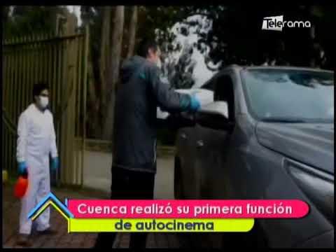 Cuenca realizó su primera función de autocinema