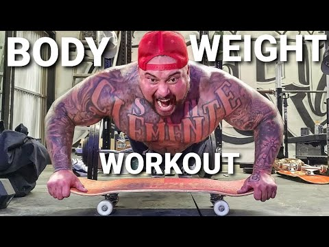 EASY HOME WORKOUT (NO WEIGHTS) - NEW SKATEBOARD AND THROWING AXE