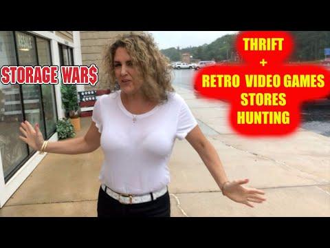 THRIFT STORE & RETRO VIDEO GAMES HUNTING in Michigan Storage Wars