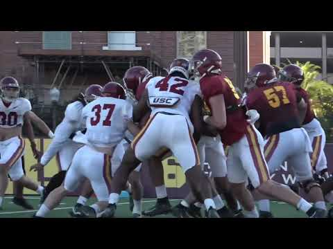 Footage: USC's first full-pads practice