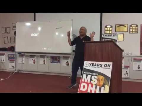 Mervyn Eades speaking at 'Surviving Tragedy: the struggle for change' forum